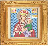 Схема вышивки иконы бисером «Пресвятая Богородица Споручница грешных» ВШ,200х210,Габардин,Арт.С-23 /00-31