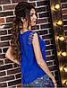 Блузка женская пуговицы по спинке+кружево, фото 2
