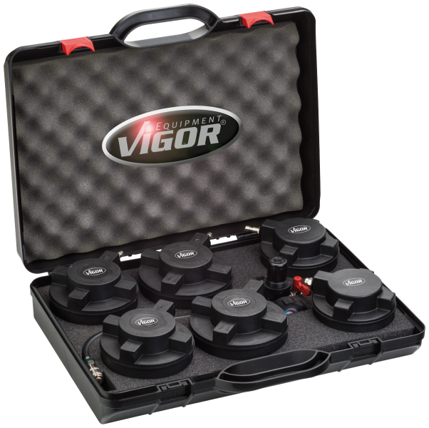 Набор для диагностики герметичности системы турбонаддува коммерческих автомобилей, 7 п, VIGOR, V4331