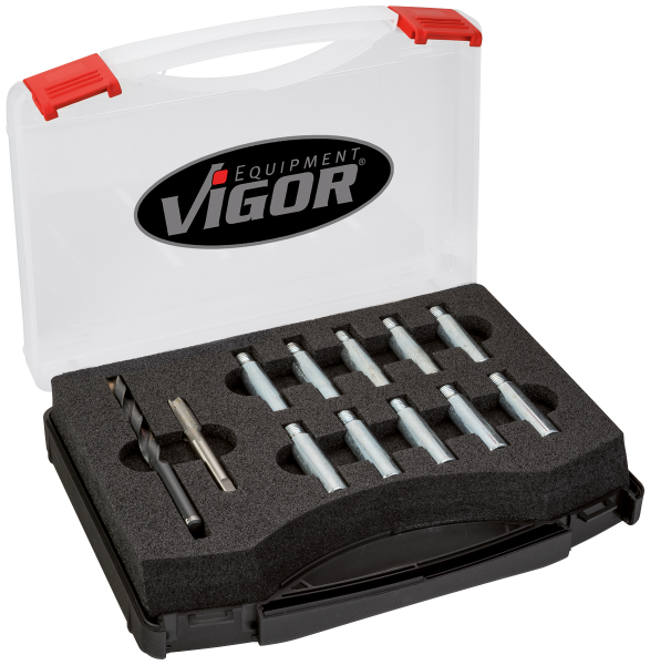 Набор для ремонта резьбы на поворотных кулаках для автомобилей  VAG группы, VIGOR, V4127