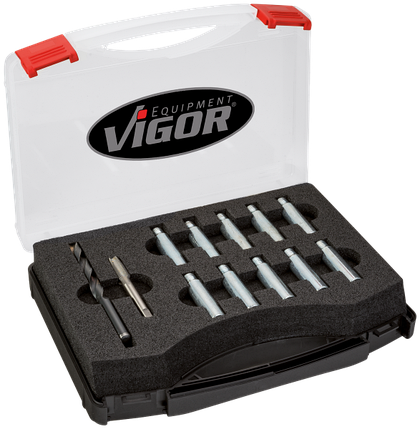 Набор для ремонта резьбы на поворотных кулаках для автомобилей  VAG группы, VIGOR, V4127, фото 2