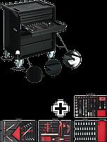 Тележка для инструментов с комплектом Black Edition II, VIGOR, V2712N
