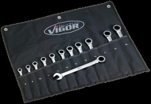 Набор ключей комбинированных с трещоткой 12ед., VIGOR, V1031, фото 2