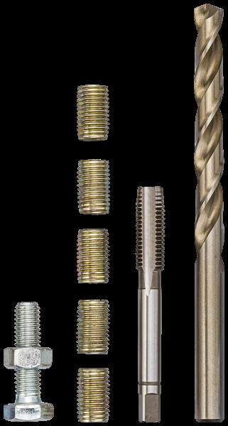 Инструмент для ремонта резьбы M 8 Х 1,25 Х 16 ММ, VIGOR, V4214