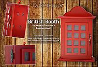 Ключница в стиле английской телефонной будки