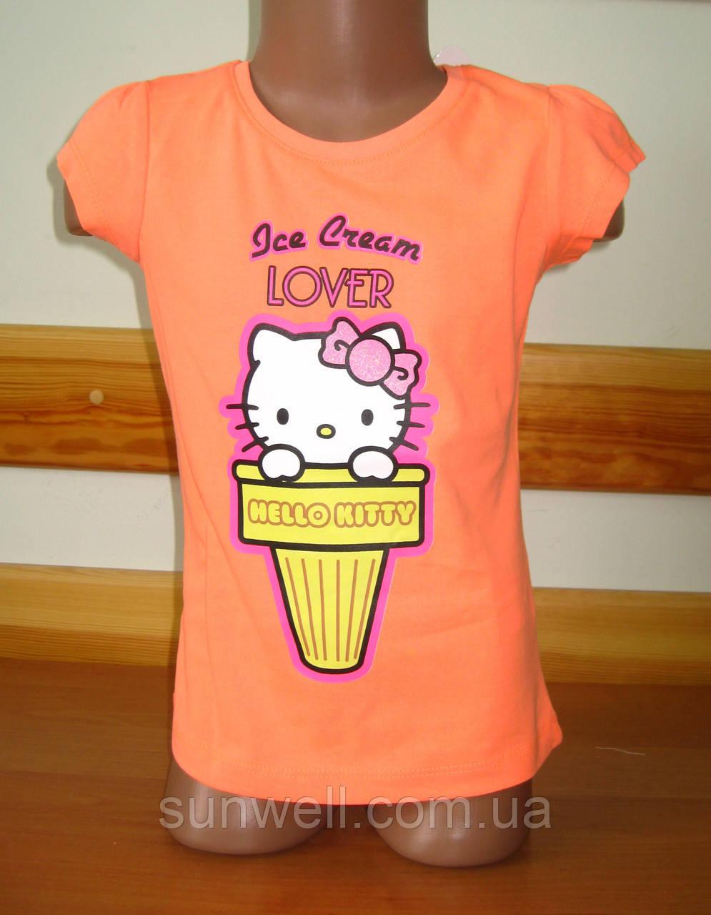 Детская футболка для девочки Китти, Hello kitty Sun Sity Франция 3, 4, 6 лет