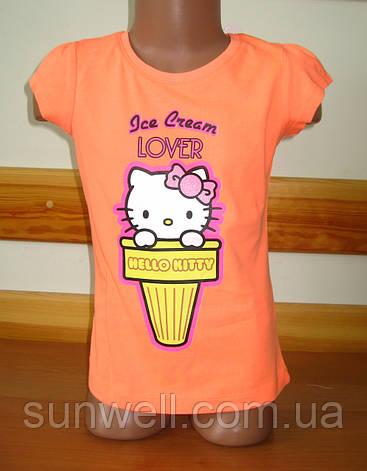 Детская футболка для девочки Китти, Hello kitty Sun Sity Франция 3, 4, 6 лет, фото 2