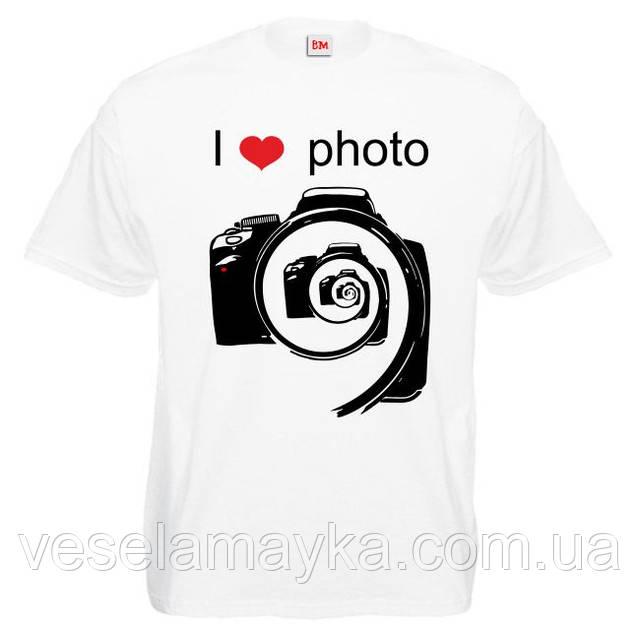"""Футболка """"I love photo"""""""