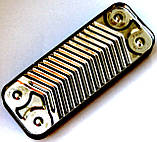 Теплообменник ГВС пластинчатый, 12 пластин, соединение - резьбовое, L=148 мм, код сайта 4096, фото 4