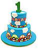 Торт на 1 годик мальчику, фото 3