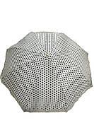 Кремовый зонт в черный горошек