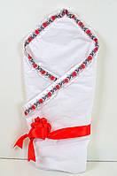 Конверт-одеяло на выписку для новорожденных девочек.