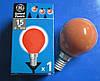 Лампа накаливания General Electric 15Вт Е14 красная шарообразная (Венгрия)