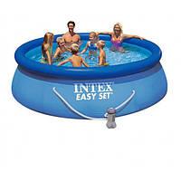 Intex 28142 Надувной бассейн   Easy Set Pool (396 х 84 см) + фильтрующий картриджный насос