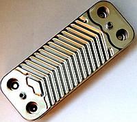 Теплообменник ГВС пластинчатый, 10 пластин, соединение- шлицевое, L=148 мм, код сайта 4098
