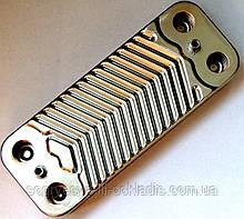 Теплообменник ГВС пластинчатый, 12 пластин, соединение - шлицевое, L=154 мм, код сайта 4097