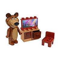 """Конструкторы «BIG» (57090) стартовый набор телевизор Медведя """"Маша и Медведь"""", 7 элементов"""