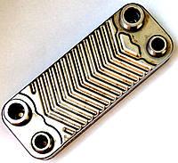 Теплообменник ГВС пластинчатый, 12 пластин, соединение - резьбовое, L=154 мм, код сайта 4245