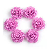 Кабошоны Розовые розы 11 мм 1 шт