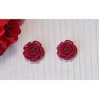 Кабошоны Бордовые розы 11 мм 10 шт/уп
