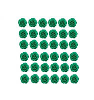 Кабошоны Изумрудные розы 11 мм 1 шт