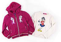Детская кофта трикотажная + футболка с длинным рукавом для девочки 92 р.