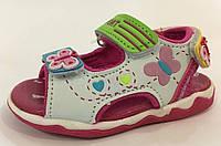 Босоножки детские Tom.M 8525В бело-розовые с бабочками для девочки р.20
