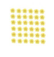 Кабошоны Желтые розы 11 мм 10 шт/уп, фото 1