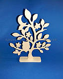 Дерево с совой заготовка для декупажа и декора (материал Фанера), фото 2