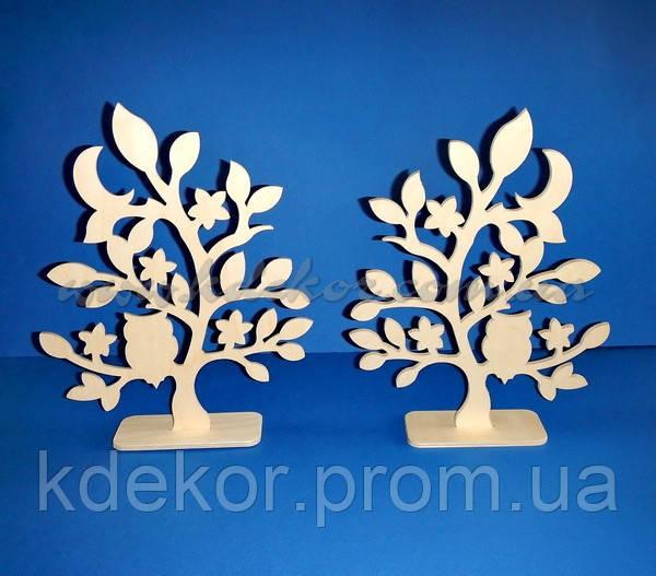 Дерево с совой заготовка для декупажа и декора (материал Фанера)