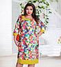 Платье женское цветы батал, фото 2