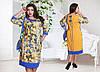 Платье женское цветы батал, фото 3