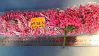 Букет цветочков малиновый