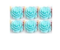 Кабошоны Голубые розы 11 мм 1 шт