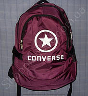 Рюкзак Converse 114028 бордовый спортивный школьный на три отдела размер 30 см х 44 см х 23 см объем 30 л