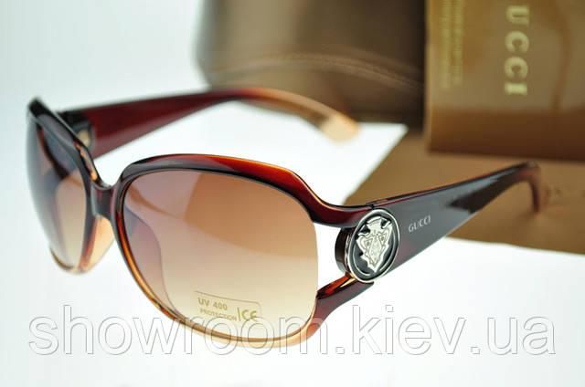 Солнцезащитные очки в стиле GUCCI 3043 (коричневая оправа)