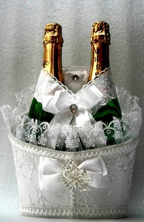 Кошики для весільного шампанського