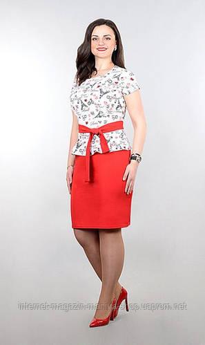 Платье женское полубатал с баской