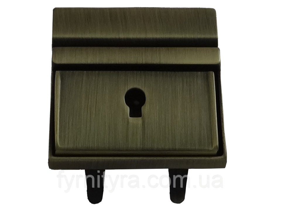 Замок 030 клавишный под ключик антик