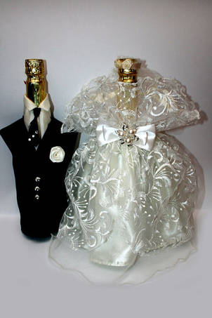 Одежинка для весільного шампанського