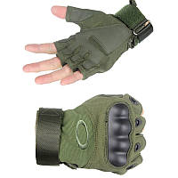 Тактические перчатки Оakley Короткопалые M, олива