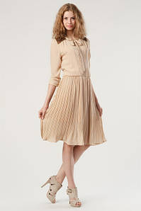 Бежевое платье - образы на разные случаи жизни