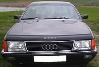 Дефлектор на капот (мухобойки) Audi 100 ( 44кузов С3) 1983-1991