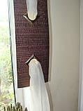 Комплект гардин коричневый Хай-тек, фото 4