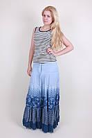 Модная женская летняя длинная юбка