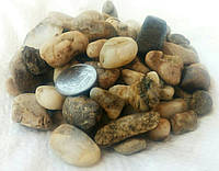 Декоративная отборная речная галька, дикий камень для клумб (фракция 10-30мм)