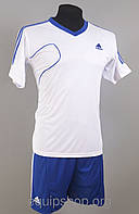 Футбольная форма игровая Adidas White (Адидас Белая), фото 1