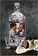 """Декор бутылки в подарок """"Покровские ворота"""" Оригинальный подарок для мужчины, фото 1"""