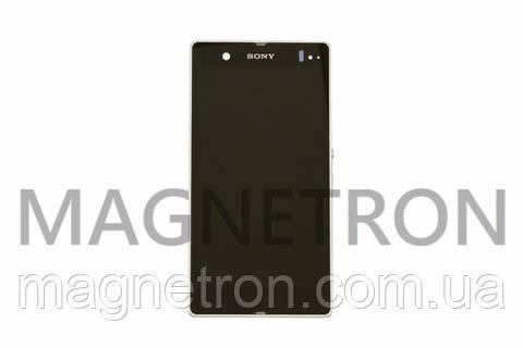 Дисплей с тачскрином и передним корпусом для мобильных телефонов Sony Xperia Z