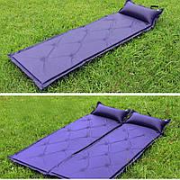Коврик для кемпинга (матрас) 180*60*2,5 см синий и камуфляж